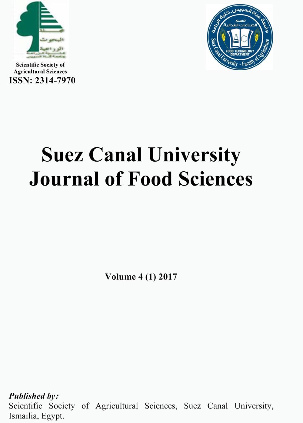 Suez Canal University Journal of Food Sciences